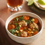 Chipotle Albondigas Soup with Dandelion Greens Recipe