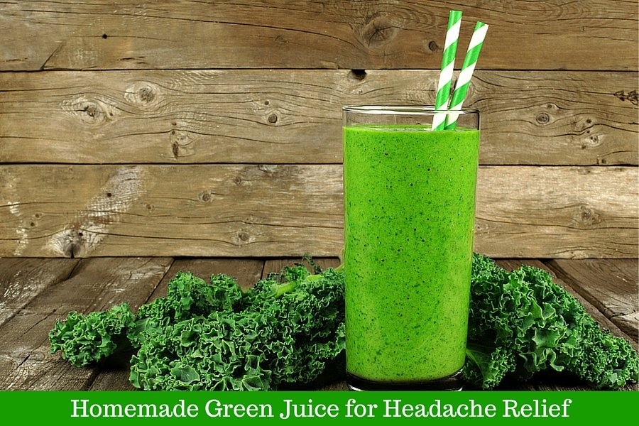 Homemade Green Juice in Glass with Straws